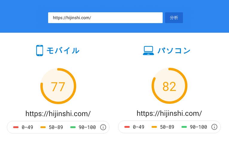 サイト表示速度検証結果 1回目