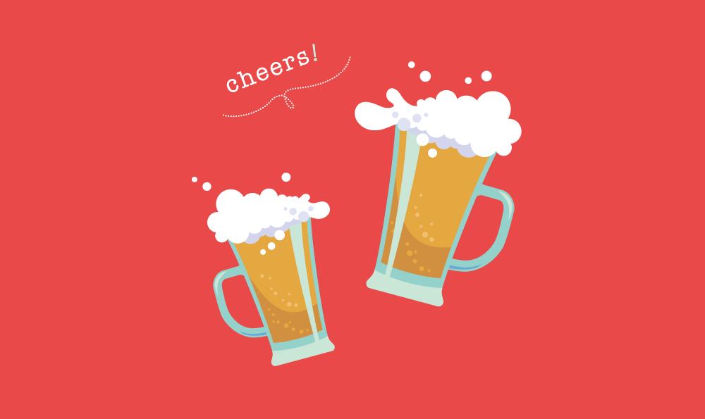 いつだってビールは美味しい